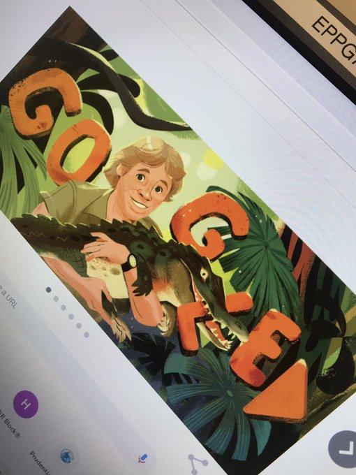 Just sobbed getting onto google this morning... Happy birthday Steve Irwin!