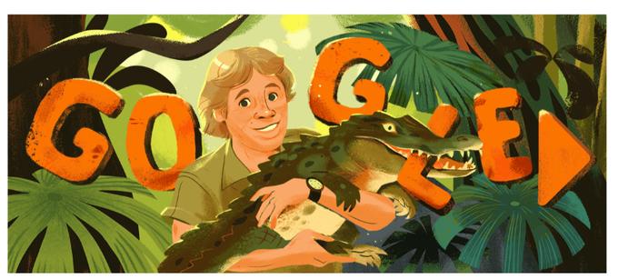 Google\s sweet Steve Irwin Birthday makes me so happy...and a little sad.