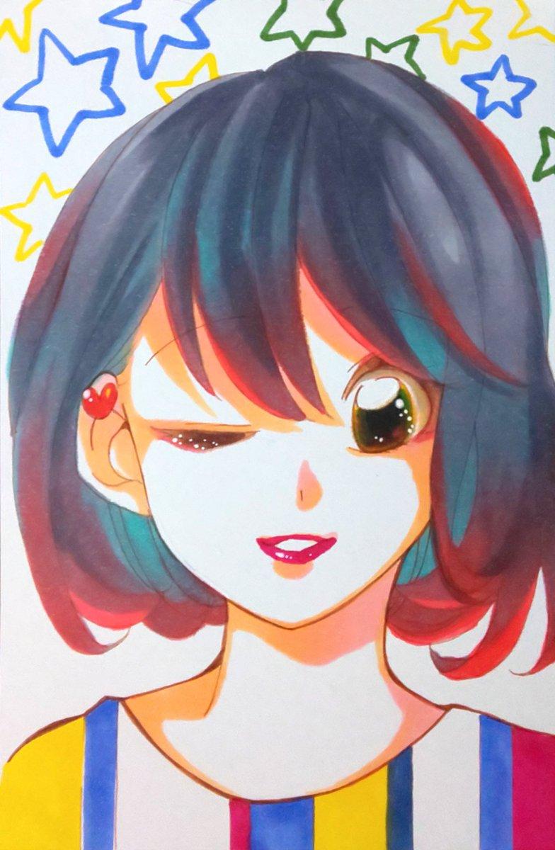 test ツイッターメディア - #キャンドゥ #アルコールインクマーカー #イラスト 100円コピックCAN☆DOver.で描いてみた。 色のびもいいし、発色も悪くないかな! いかがでしょう(◦`꒳´◦) https://t.co/FpNdZREITa