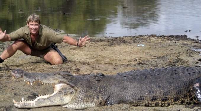 I miss steve irwin so much, happy birthday to him   rest in peace crocodile hunter <3