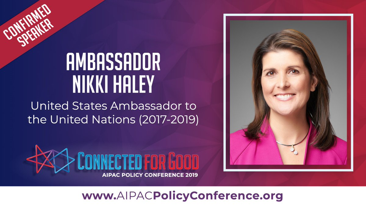 Image result for nikki haley aipac 2019