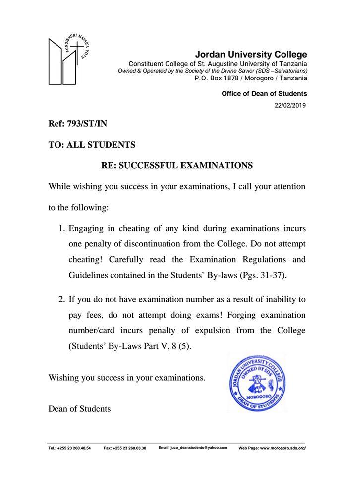 Wishing you success in your examinations. #JUCO #Morogoro #Tanzania #education #exams #GainWithXtianDela #Students<br>http://pic.twitter.com/WR6gnBbAin