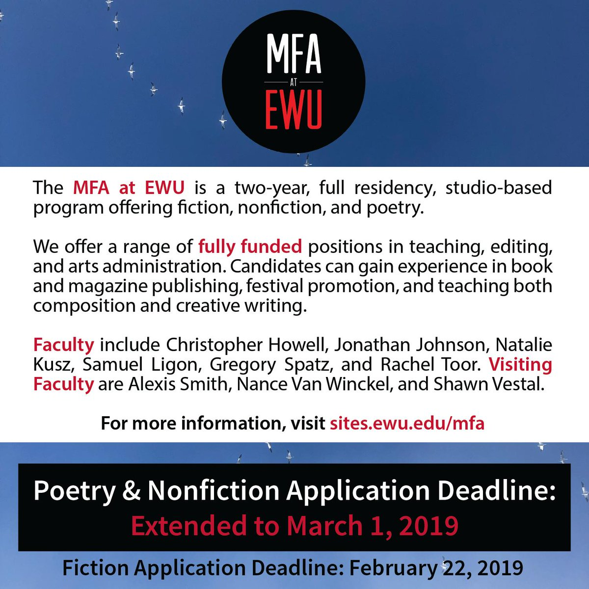 ewu creative writing mfa