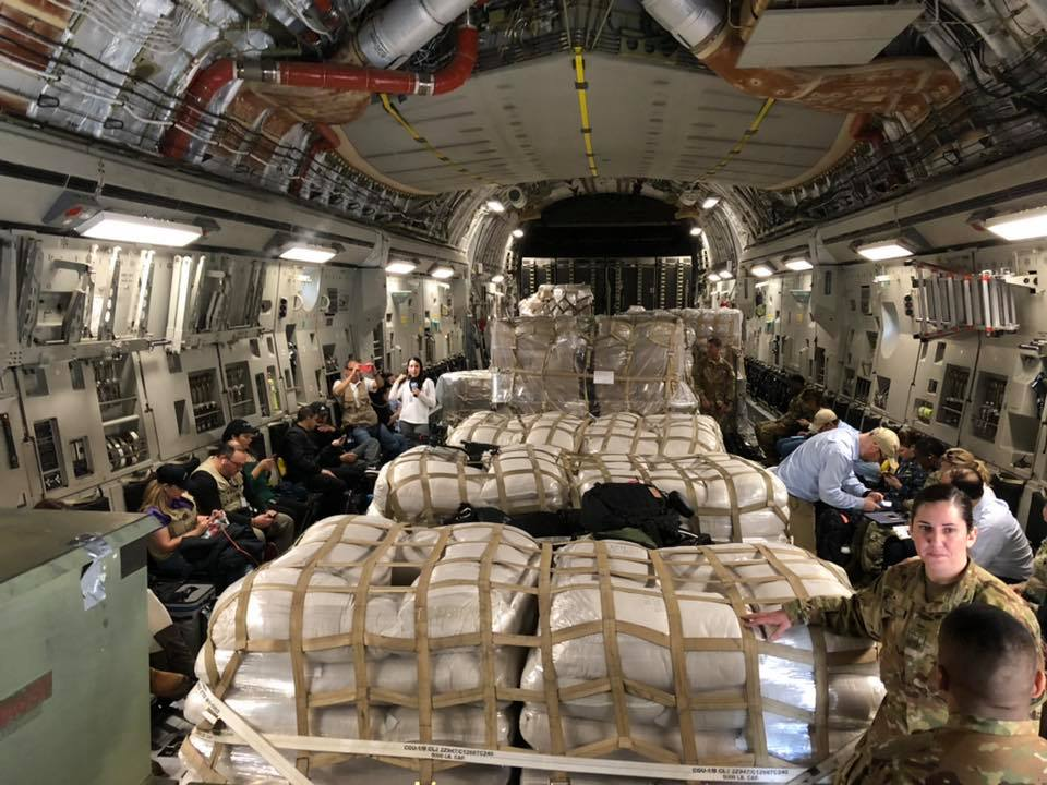 Humanitarian Aid for #Venezuela: Additional @USAirForce C-17 flying #humanitarian aid from Miami to Cúcuta, Colombia today. @StateDept, @USAID &amp; @deptofdefense, in a cooperative effort, is delivering aid to the people of Venezuela. #EstamosUnidosVE @WHAAsstSecty @theOFDA<br>http://pic.twitter.com/jKJkJK9Ore