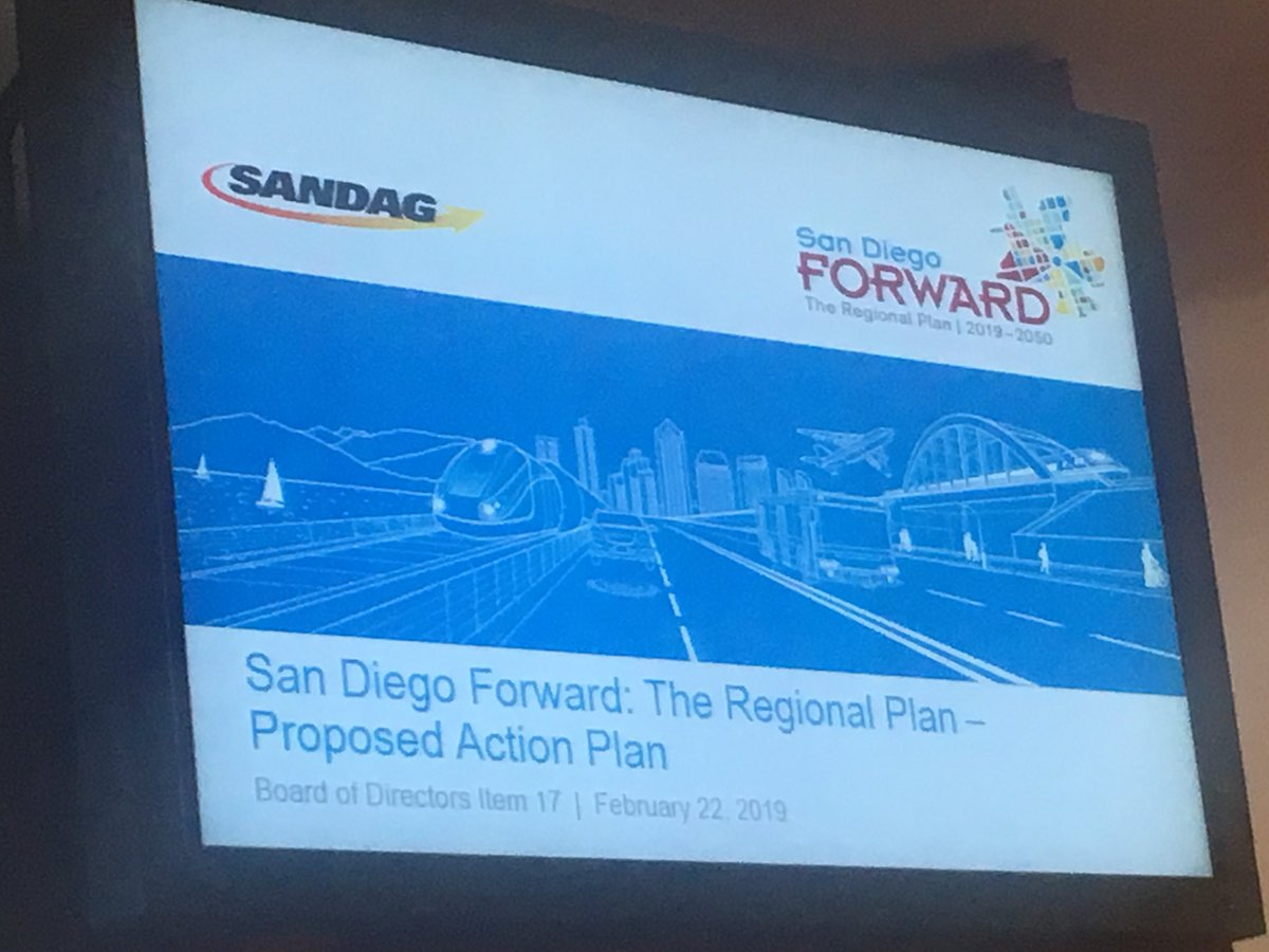 Two days ago we called for San Diego Green New Deal to advance big, bold, regional solutions. This decision at @SANDAG to push the reset button on the RTP to build a regional transportation vision from the ground up is a huge step in the right direction. #GreenNewDealSD