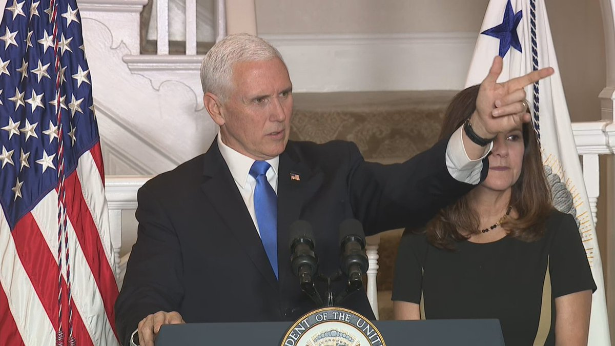 """""""I'll make you a promise,"""" @VP tells nation's governors at his residence, """"that in this Congress, we're going to pass historic infrastructure legislation,"""" to rebuild roads, bridges and more. A former Governor himself, Pence says governors will play a leading role in that."""""""