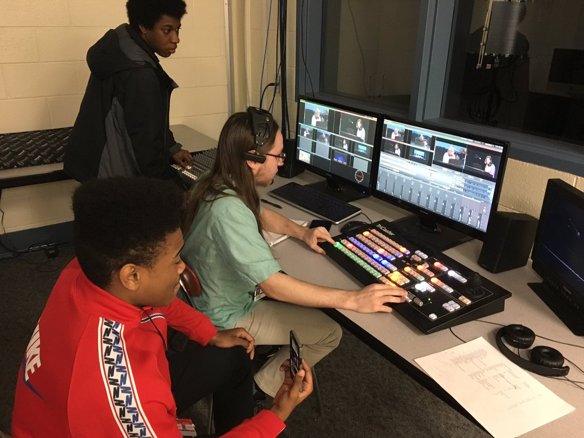 BCIT Entertainment Tech students live recording and switching of talent show @BCITMedfordCTE @BCITTWEETS