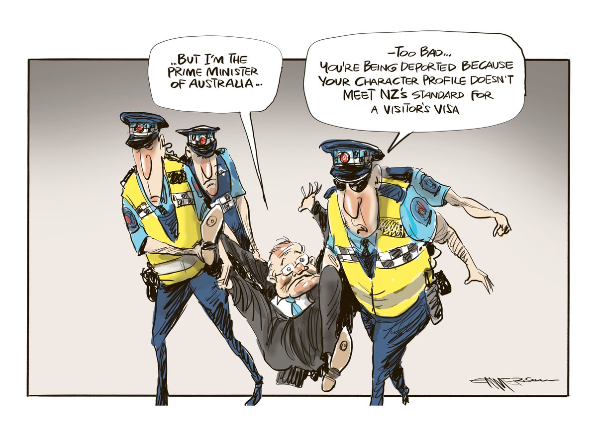 ScoMo&#39;s quick trip to NZ yesterday... cartoon in today&#39;s @nzherald story: https:// bit.ly/2GWOnam  &nbsp;   #auspol #nzpol #ScoMo<br>http://pic.twitter.com/Yc8vrzXGFq