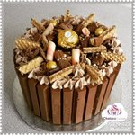 It's all about chocolate #yummy  #KitKat cake