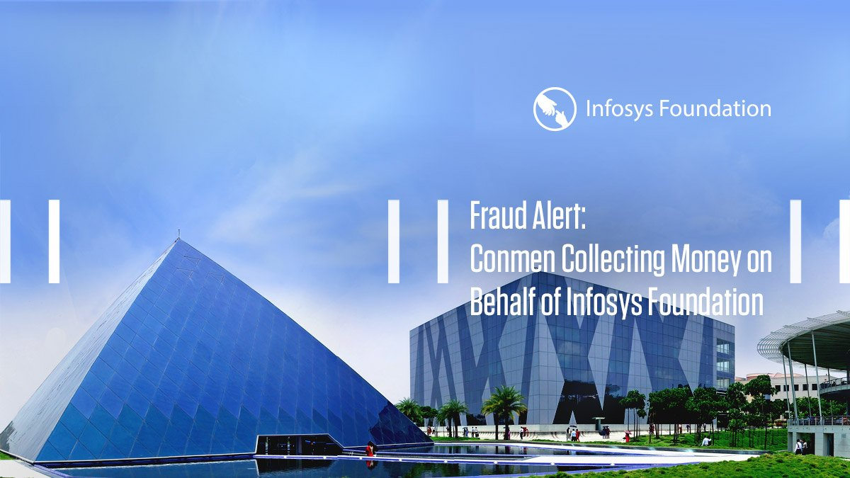 .@Infosys Foundation neither requests nor accepts donations for its activities aimed at giving back to the society. The Foundation uses its own funds for all its projects and programmes. Read our statement here: https://infy.com/2TYylQF  #InfyNews
