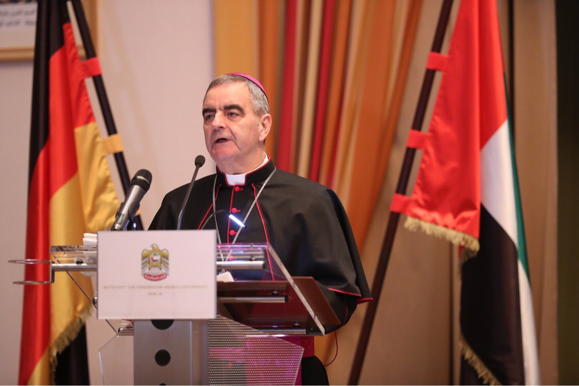 HE Nuncio Archbishop Dr. Nikola Eterović, representative of @Pontifex in #Berlin, expressed gratitude to #UAE ambassador HE Ali Al Ahmed for the initiative &amp; emphasized the importance of #fraternity among mankind for a peaceful #coexistence in the world.@MOFAUAE #PopeFrancisinUAE <br>http://pic.twitter.com/3Uh1zEaGX9