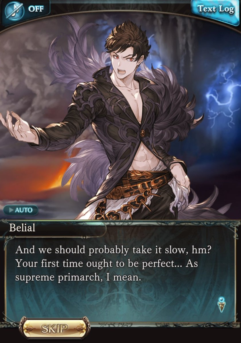 Seriously.  Seeing Sandalphon being Fucking Done™ with Belial&#39;s constant innuendos is hilarious.  #GranblueFantasy <br>http://pic.twitter.com/3K87rOOqxw