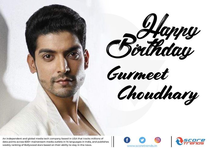Score Trends wishes Gurmeet Choudhary a Happy Birthday!!