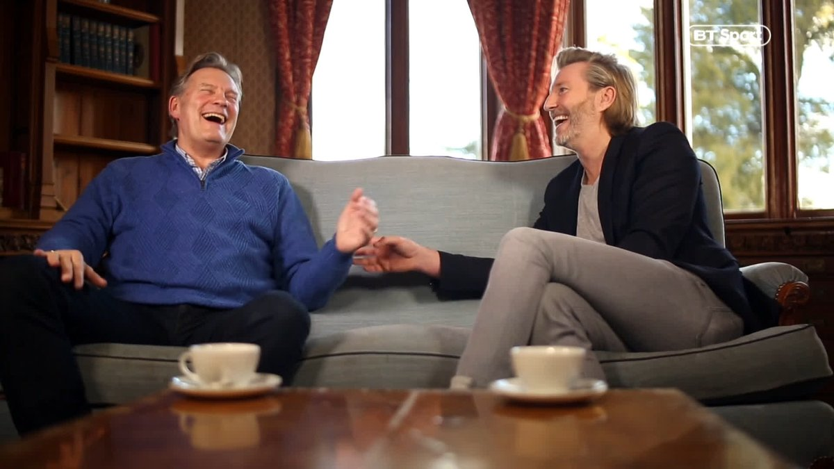 Glenn Hoddle laughing, joking and most importantly, looking healthy.  He's taking the time now to enjoy the little things in life. Really great to see, isn't it?  Watch the full film on Glenn's recovery live on #SaturdaySav at 11am on BT Sport 1HD