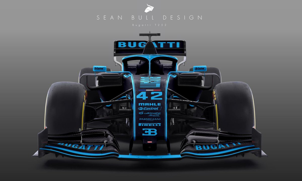 Bugatti T252 Concept livery: would this be the VW group brand to enter F1?   #f1 #f12019 #formula1 #bugatti<br>http://pic.twitter.com/izNZ2sfw2B
