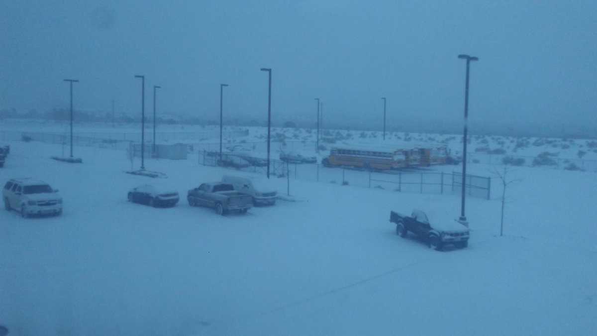 Snow Day at Wingate HS in Ft. Wingate! Easy to see why...  📸: Isaiah Ganadonegro @KOB4 #nmwx