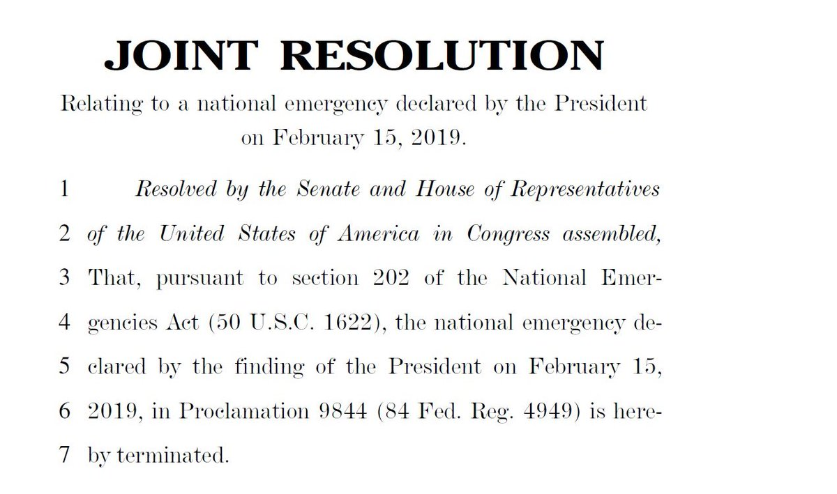 CBS' @RebeccaRKaplan reports House Democrats introduce resolution to block Pres Trump's national emergency to build southern border wall.