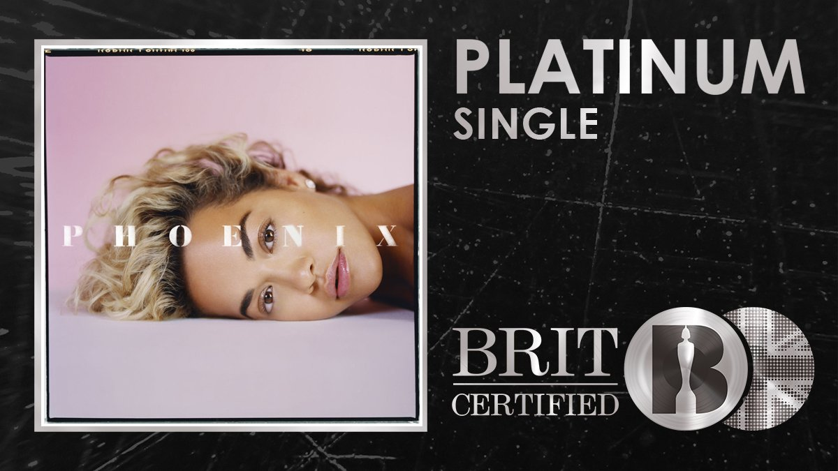 💖 @RitaOra has another #BRITcertified Platinum seller to add to her collection with 'Let You Love Me'! 🇬🇧💿