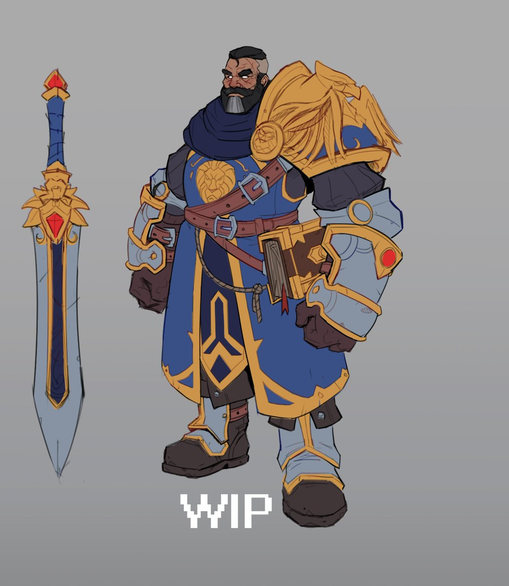Wanted to try something with a fan concept art - Halford Wyrmbane, the leader of the 7th Legion (wip #1)#warcraft #fanconceptart<br>http://pic.twitter.com/LjGTQ52GGX