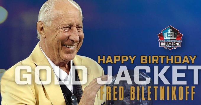 Happy Birthday Gold Jacket and legend Fred Biletnikoff! to wish him a happy birthday!