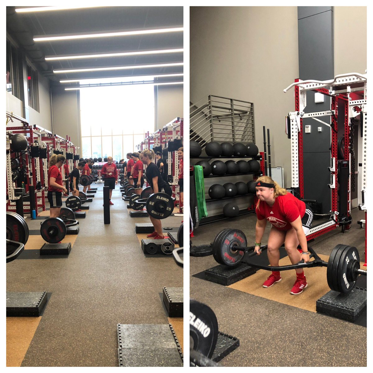 Our RedHawks @MiamiOH_SB Liftin' that Big Girl Weight!! #RiseandGrind #AlwaysWorkin<br>http://pic.twitter.com/sF5kOoa83I