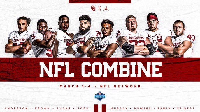 #NFLCombine  Watch the #Sooners live, March 1-4 on @nflnetwork. #OUDNA    http:// bit.ly/OU19nflsc  &nbsp;  <br>http://pic.twitter.com/kJKTYVHiCk