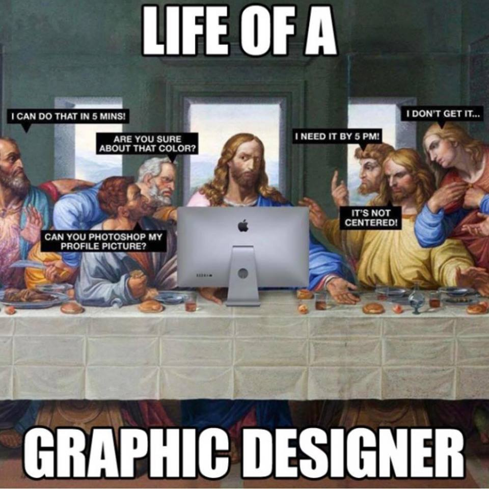 Die Leiden eines Grafikdesigners. Seid lieb zu ihnen. 🐻💚