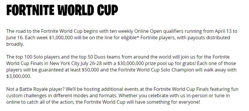 Fortnite World Cup Week 2 Qualifiers Fortnite World Cup Duo Qualifiers Prize Pool Fortnite Free Roam