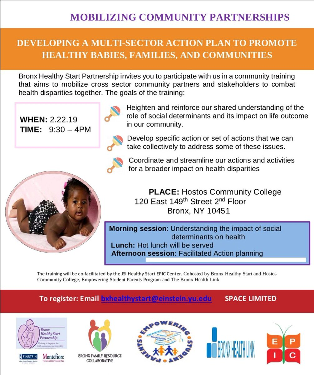 We are proud to once again, co facilitate a training for another NYC #HealthyStart grantee ...this go round we are getting down in the #BoogieDown with the @bxhealthystart.  Cant wait to see what today brings forth and plato combat #Not62 to foster a healthier #Bronx! #BronxCAN