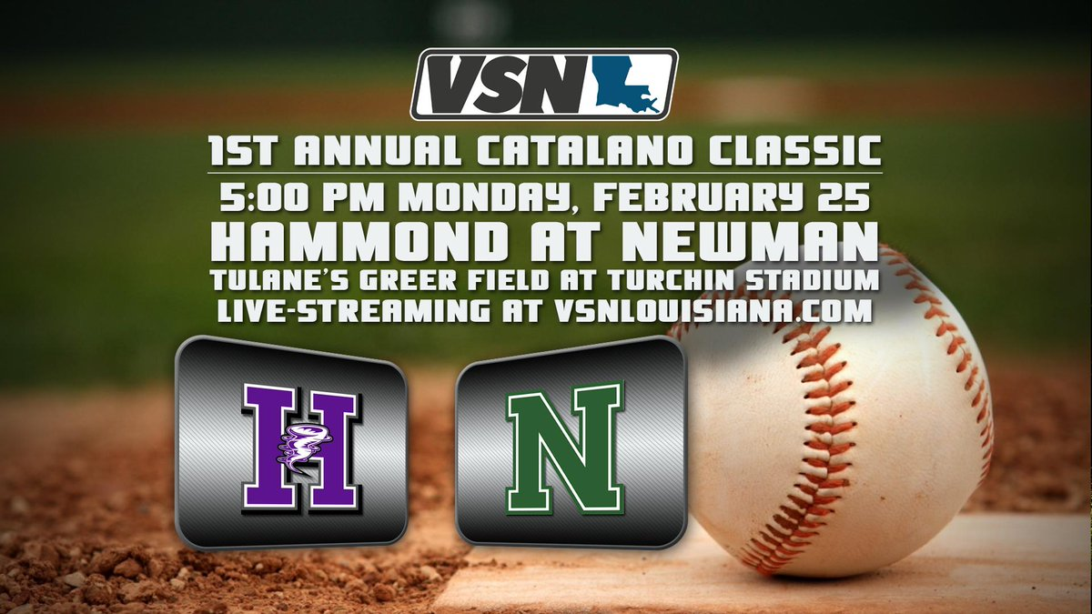We are honored to be live streaming the 1st Annual Catalano Classic 5PM on Monday Feb 25 as @NewmanAthletes hosts @HhmSbaseball from #Tulane Greer Field at Turchin Stadium.  @colecat31 vs @ChadCatalano31   #BroVsBro  Video previews to come leading up to the game