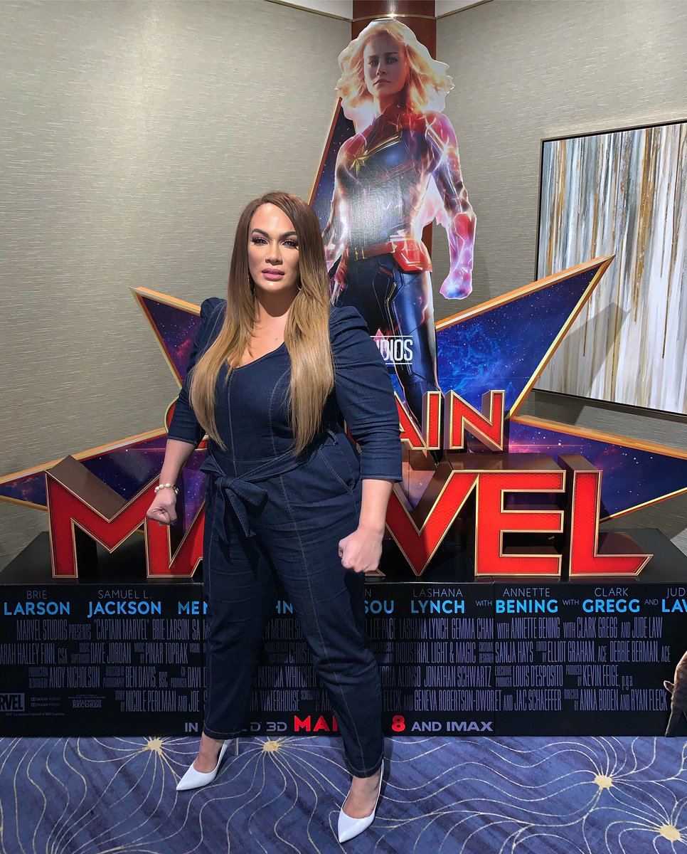 At the #CaptainMarvel  press junket. Loving these strong female heroes portrayed on the big screen <br>http://pic.twitter.com/wyl9dLKrms