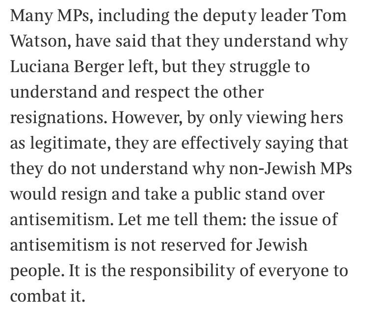 This is very moving by @TaliFraser and gets right at the crux of a point I've heard from so many Labour MPs is just mad:  https://www. thetimes.co.uk/article/i-thou ght-labour-was-my-party-not-anymore-pgr2cjv85 &nbsp; … <br>http://pic.twitter.com/IMLd9uNaTO