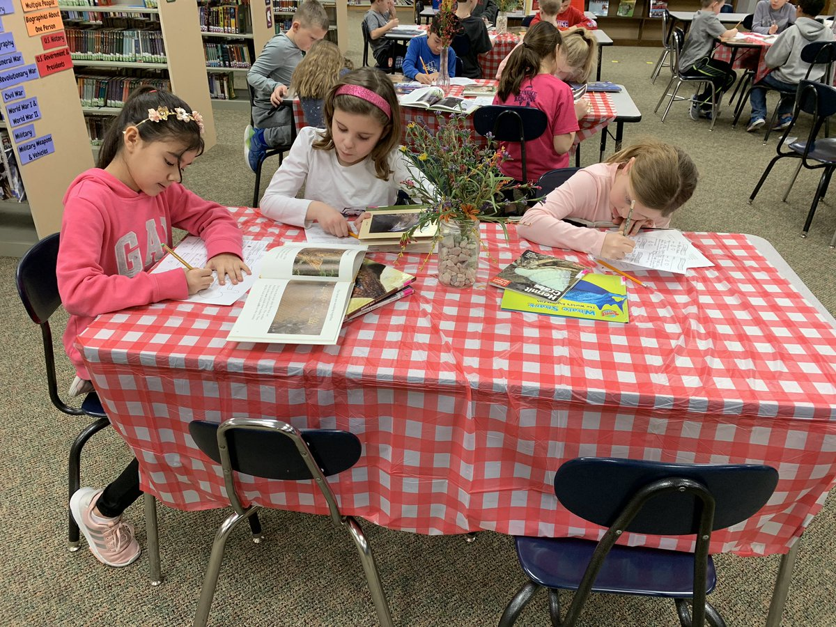 Nonfiction book tasting with Mrs. Johnson's class to get ideas for research topics. #lctitanhill