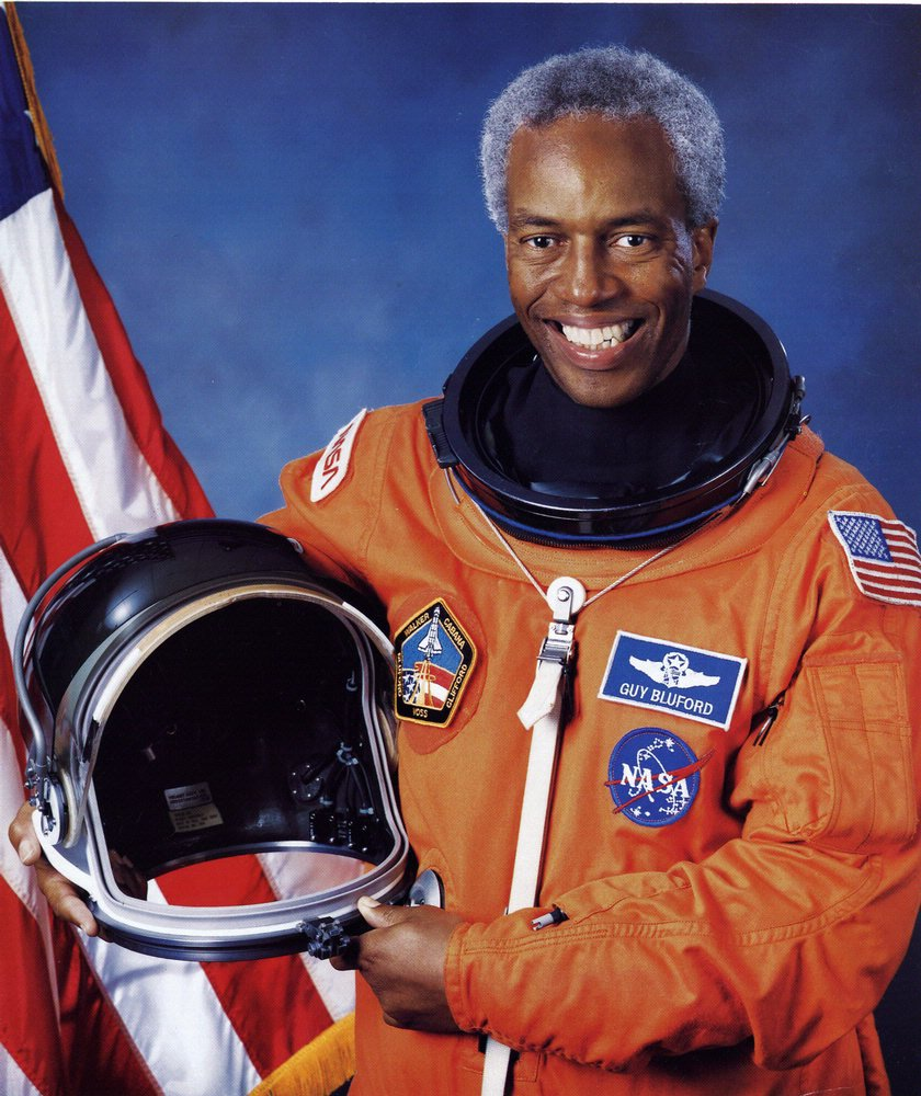 Guy Bluford was the first African American in space, flying on STS-8 in 1983. Before joining NASA, he flew F-4C fighters for the Air Force in Vietnam and completed 144 combat missions. Learn more about Bluford: https://t.co/A8qhtWr6uh  #BlackHistoryMonth