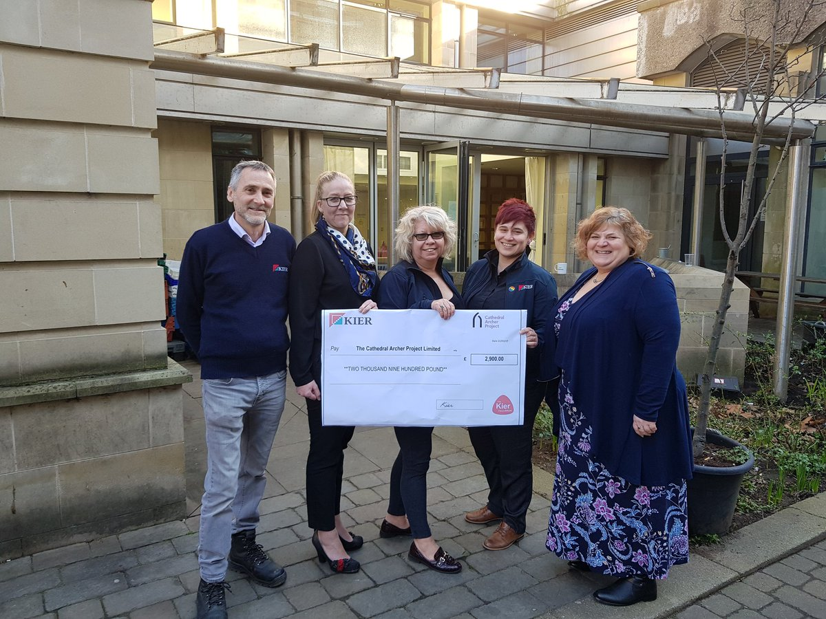 In September 2018 #Kierleeds & #KierHM joined forces to take part in @archerproject #Sleepout event! Today we were delighted to hand over a cheque for £2900 which has been raised by staff who took part in the event! Well done all involved #kiergroup #CSR #Makingadifference