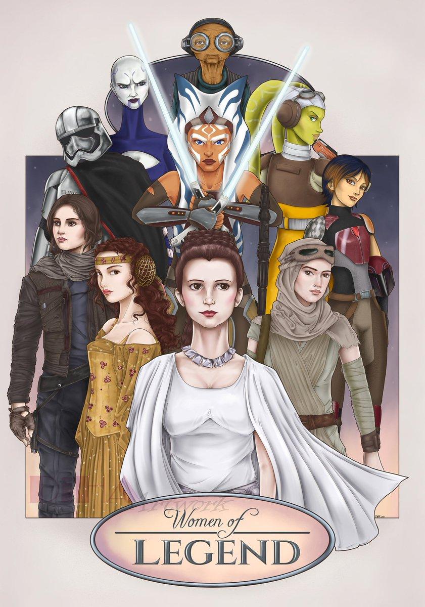 """Women Of Legend"", created by @DiHA_Artwork. #StarWars #Women #Art -B-"