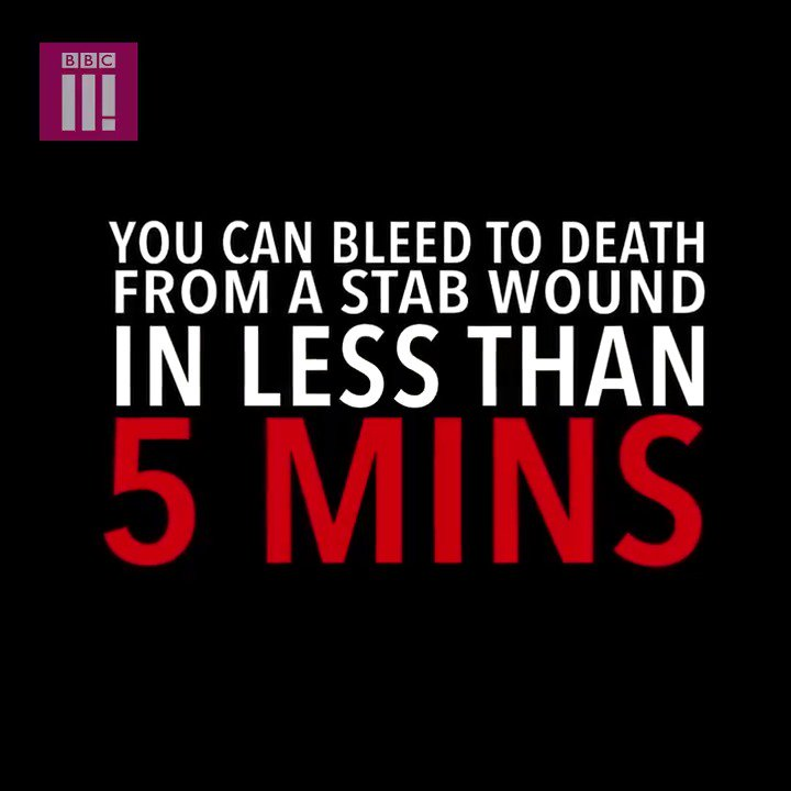 If you get stabbed, then always put pressure on the wound to slow down the bleeding.