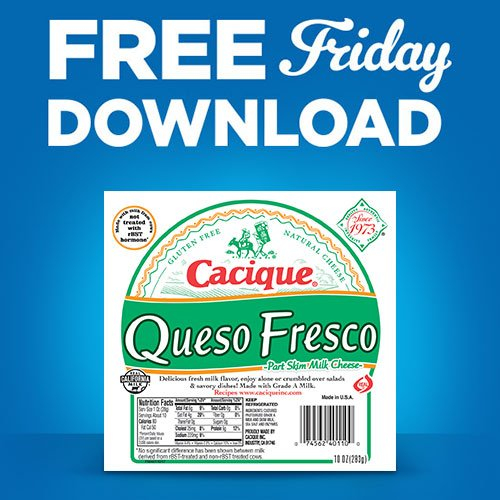 It's Fresco Friday! Grab your digital coupon and get free Cacique Queso Fresco. Download today by 11:59 pm and redeem within 2 weeks. http://spr.ly/6017ETg3l