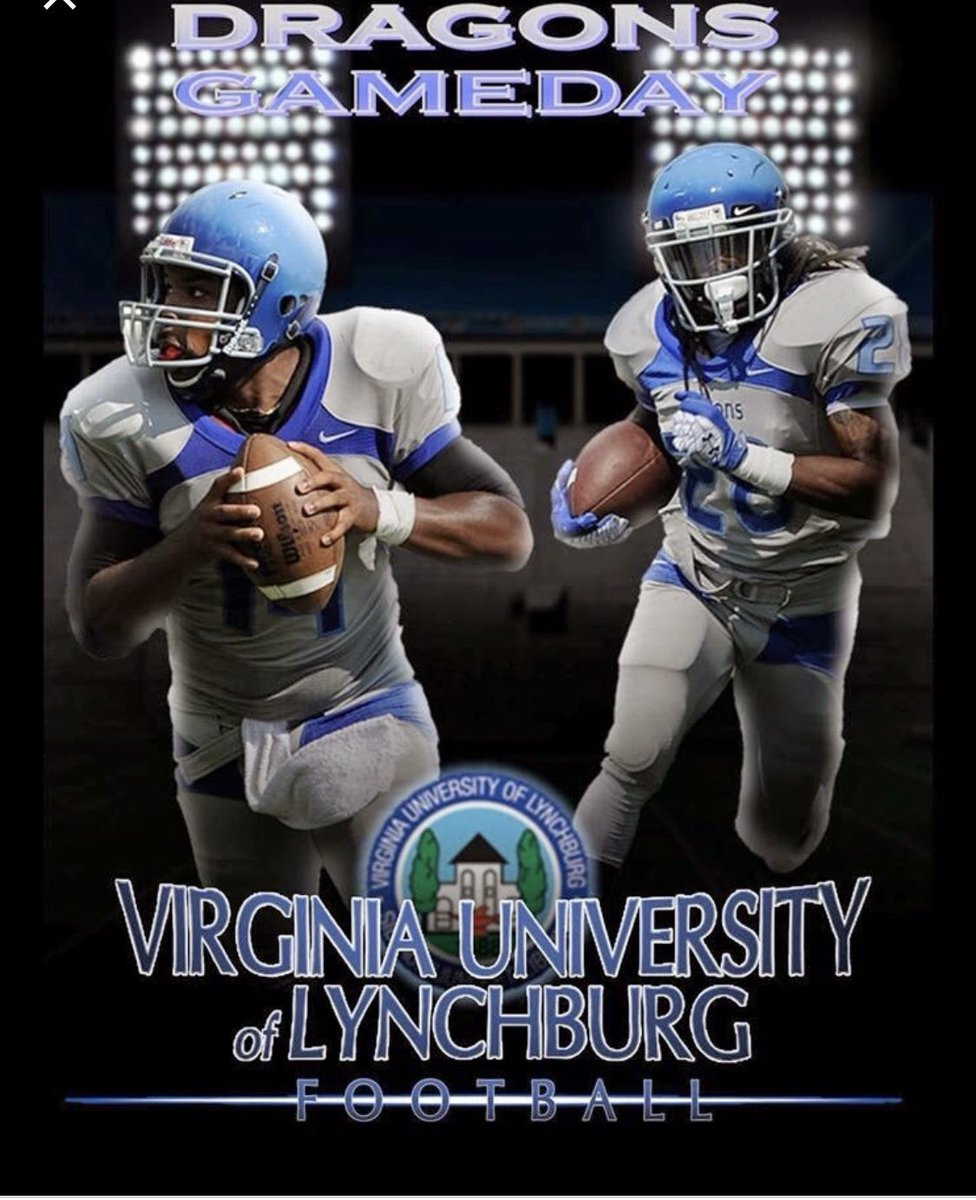 Extremely blessed to receive my second D1 offer from Virginia university of Lynchburg🔵🐉 #godsent🙏🏾 @kwontie34Hoos @MonsignorPaceFB @MarioMypkdk79 @nopainostruggle @larryblustein