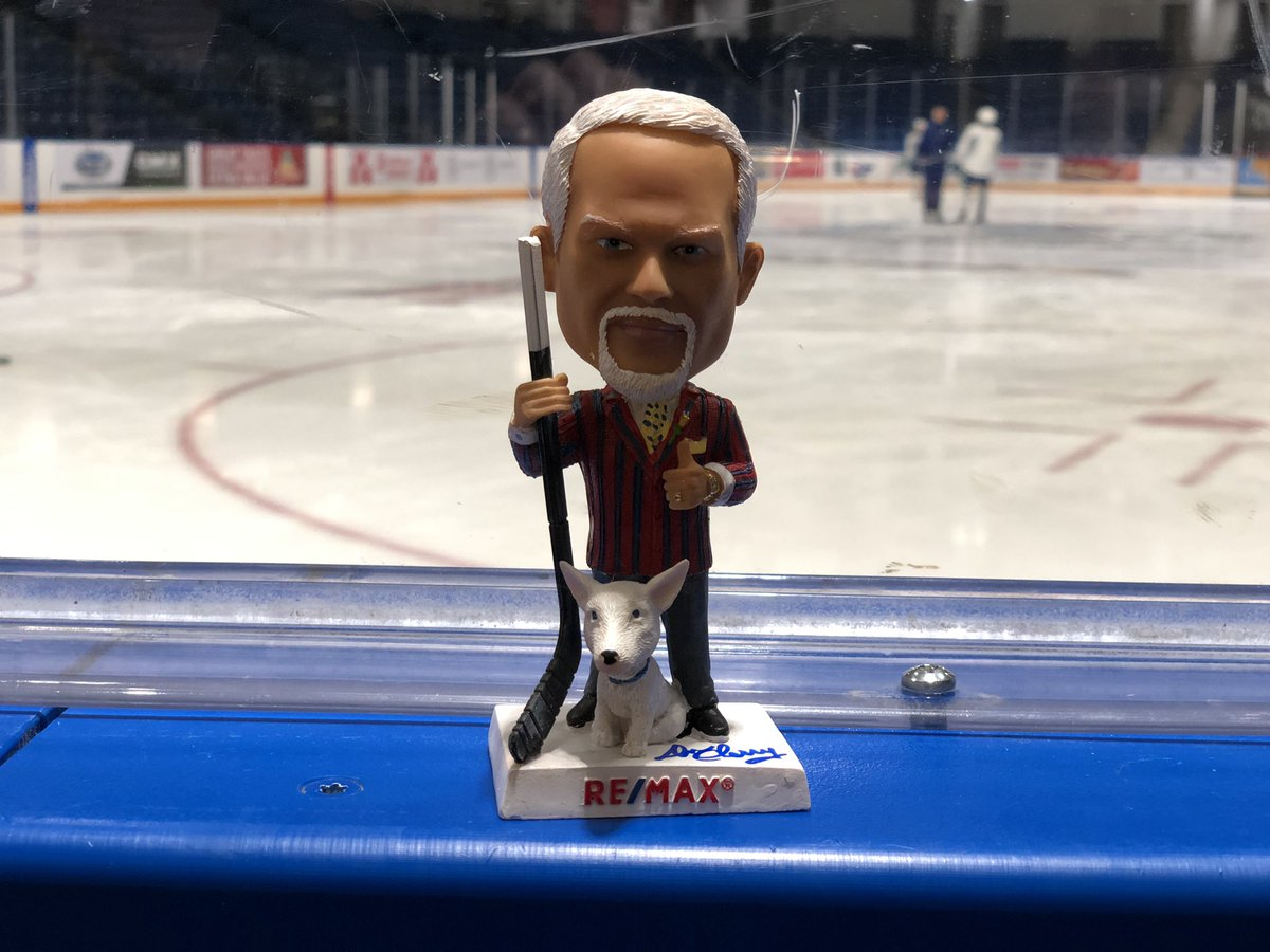First 1000 fans at tonight's game get a Don Cherry Bobblehead. If you retweet this, you are entered to win this SIGNED Grapes bobblehead. Don't use fake accounts in an attempt to win please. <br>http://pic.twitter.com/yNfzLy0X0b