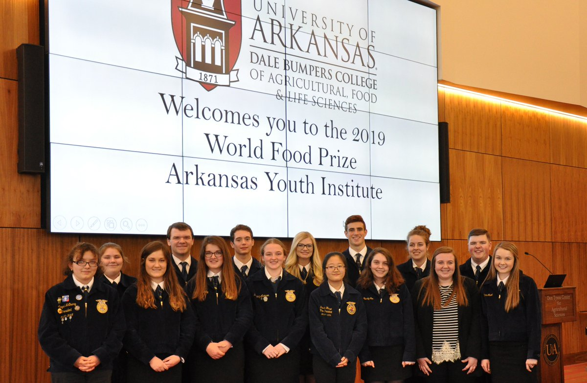 Pics in our FB photo album of yesterday's @WorldFoodPrize Arkansas Youth Institute. By the end of the day, all participants were the newest Borlaug Scholars from Arkansas! Congratulations! http://bit.ly/2ItvluE #food #FoodSecurity #agriculture #sustainability