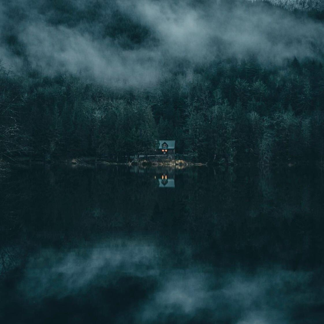 """""""Solitude on the lake."""" 🌲 📷 + text by Dylan Furst"""