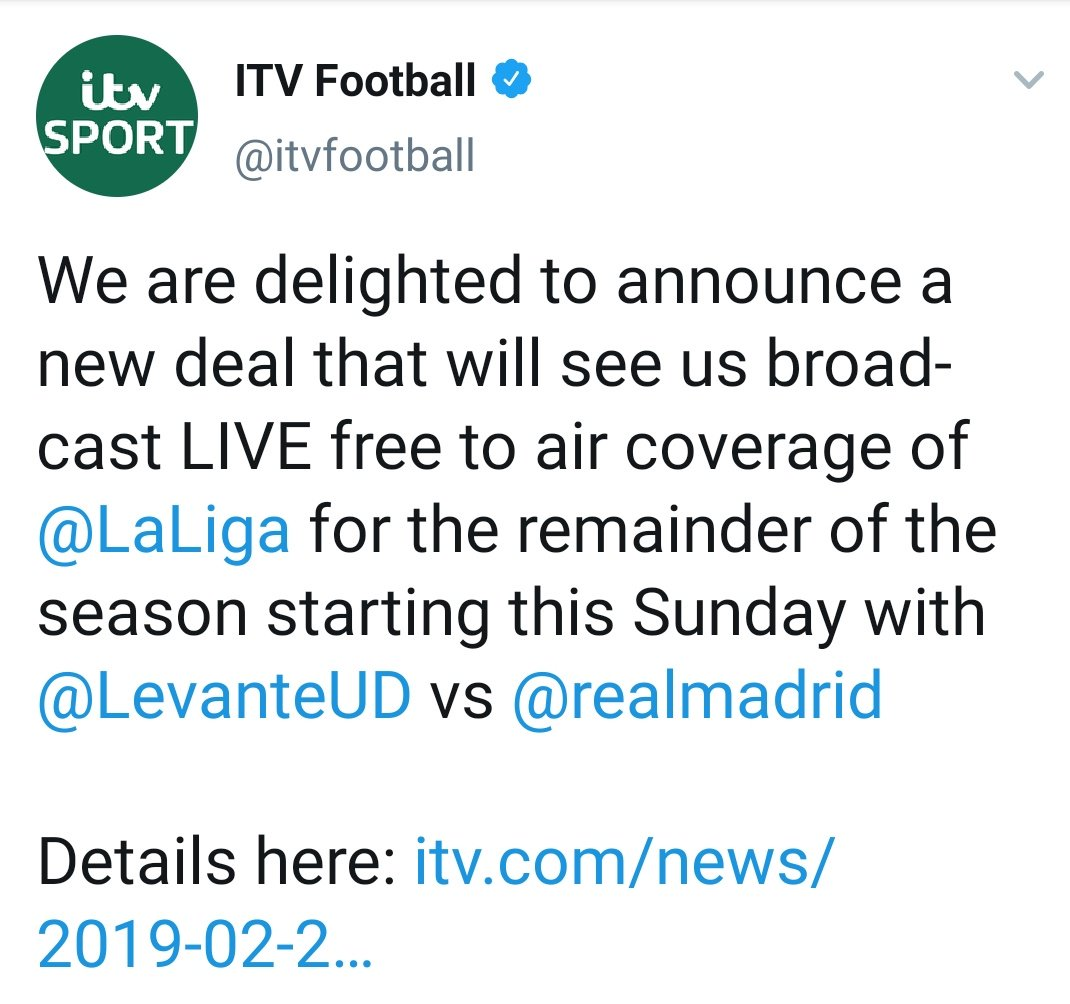 This is superb news for those of us who faffed around with watching La Liga on a laptop, only to predictably give up.
