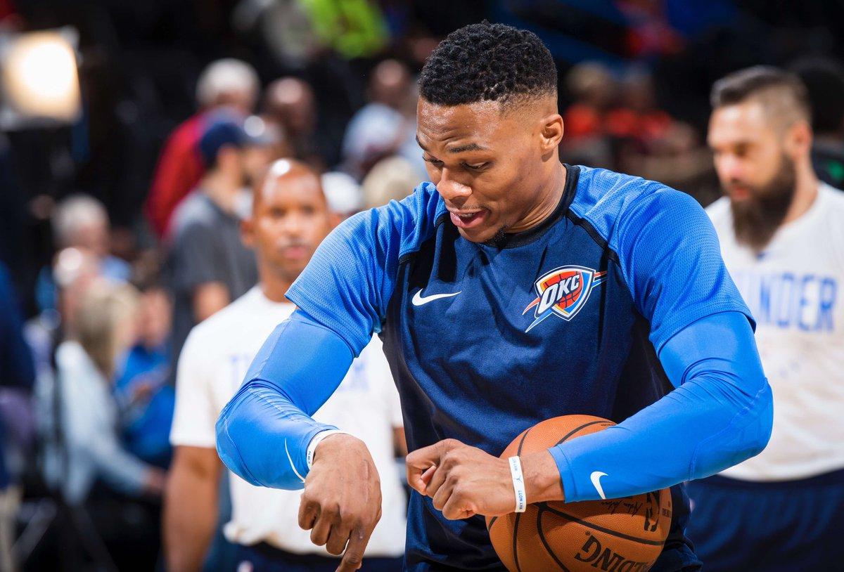 ⚡COMO QUE A GENTE TÁ ESPERANDO PRO JOGO DE HOJE À NOITE?⚡  A bola sobe às 23h30 diante do Utah Jazz em Oklahoma, com transmissão da ESPN.  #ThunderUp #NBA #whynot #MVPG