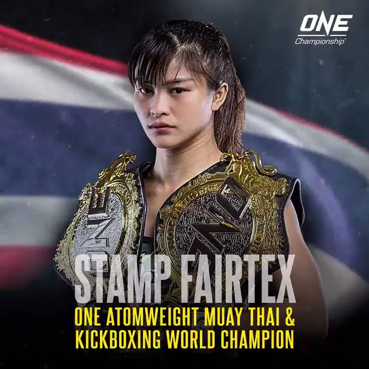 Stamp Fairtex has made history, winning the ONE Atomweight Muay Thai World Championship to become ONE's first-ever two-sport World Champion! 🇹🇭 #WeAreONE #CallToGreatness #Singapore #MartialArts
