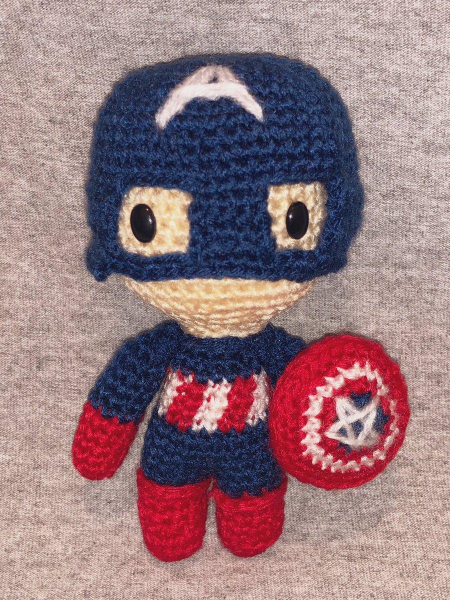 Amigurumi] Crochet Marvel Hero - Captain America, Design & Craft ... | 1200x900