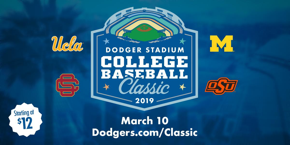 Dodger Stadium College Baseball Classic. March 10. Be there.   🎟: https://t.co/KL9jo6r0Xi https://t.co/cg0uHyTGmW