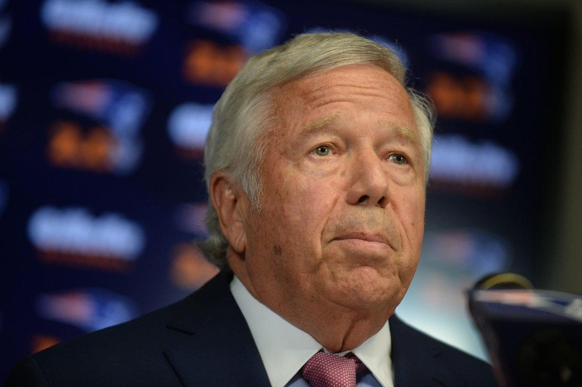 JUST IN: New England Patriots owner Robert Kraft has been charged with soliciting prostitution, AP reports, citing Florida authorities