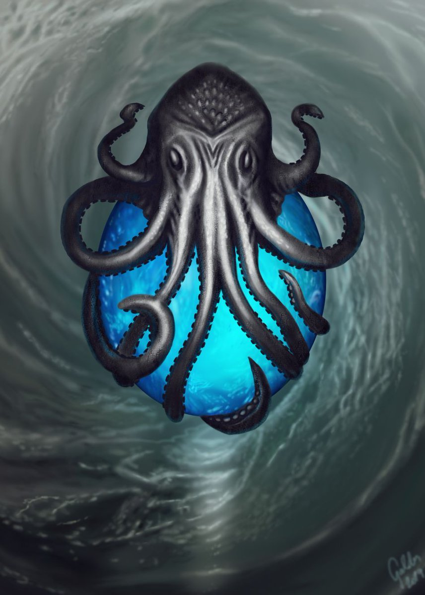 Today I'd like to share a slightly menacing, yet enchanting piece of jewelry - the Tide's Heart, a pendant that holds the core of a powerful water elemental. I had the pleasure of working on this piece for @Queen_Wrynn . Thank you for commissioning me! #Warcraft @TheArtistHelp