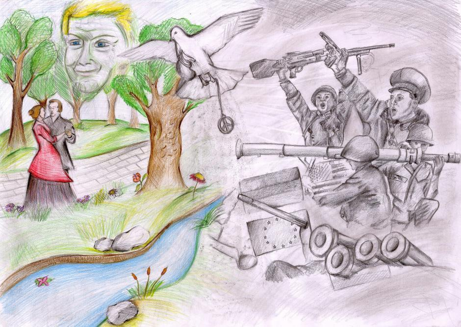 Картинка на тему война и мир